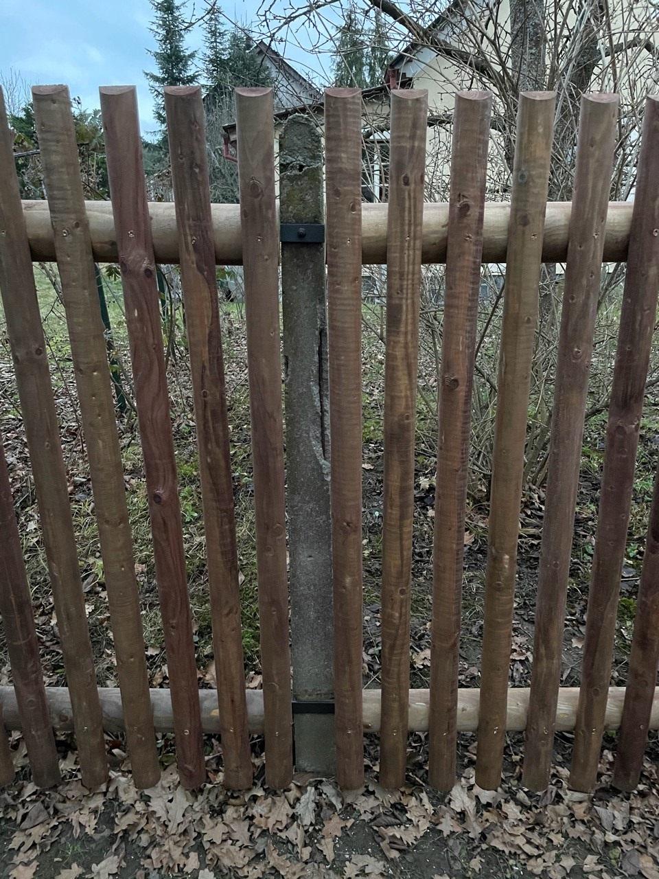 Obrázek 2 / Dřevěné ploty - strojně frézované   - realizace Zvíkovské Podhradí 12-2020