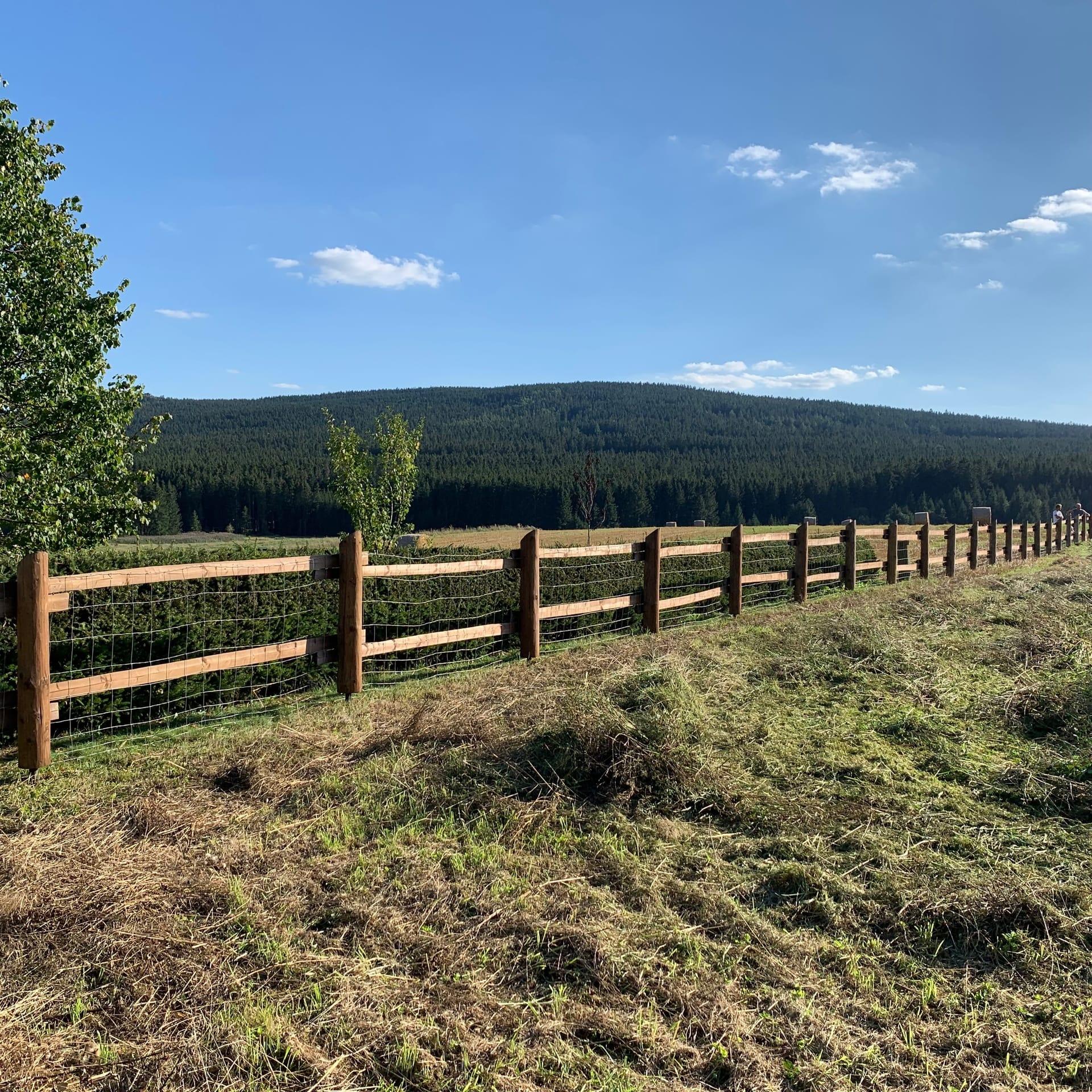 Obrázek 2 / Dřevěné ploty - strojně loupané   - realizace Křižánky 9-2019