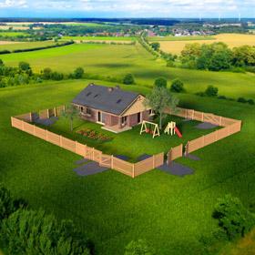 poptávka dřeveného plotu - parcela celek