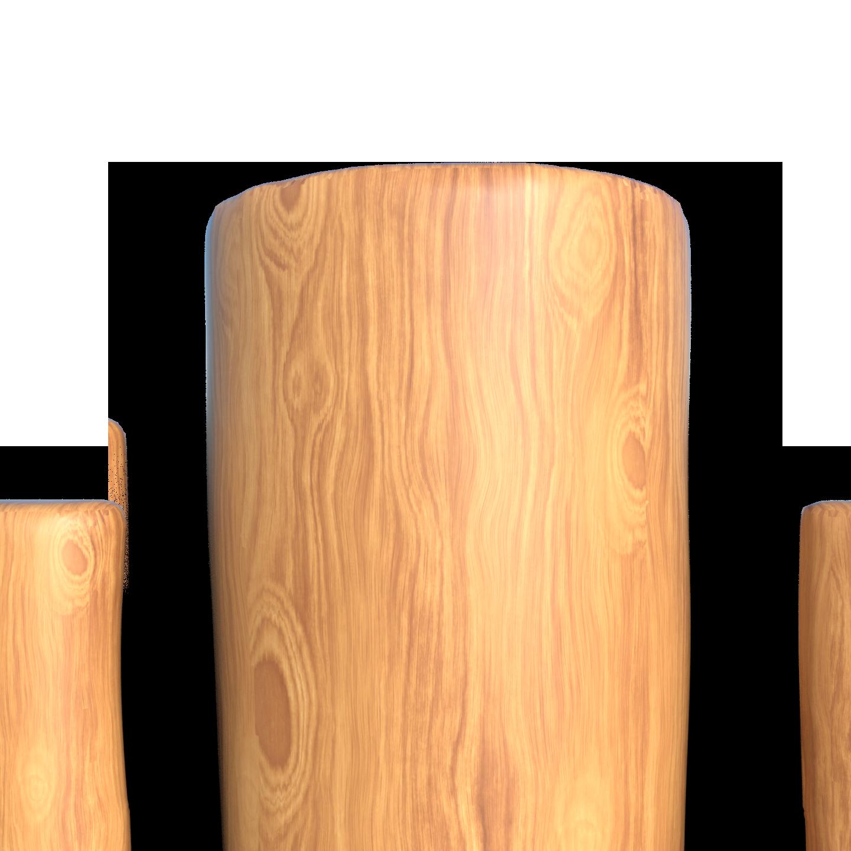 poptávka dřeveného plotu - ukončení rovné