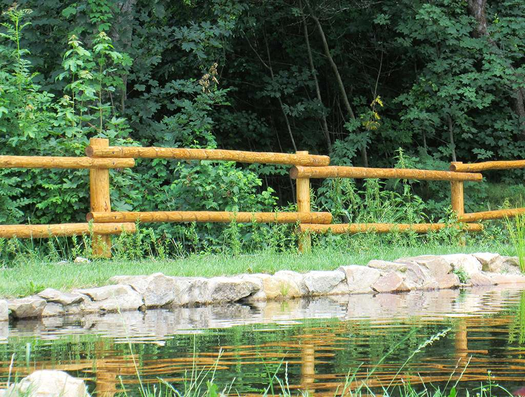 Dřevěné ohrady - ukázka plotu