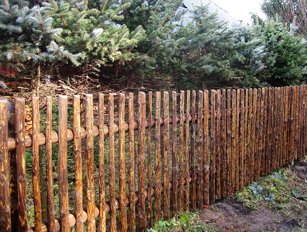 Strojně loupané - ukázka plotu